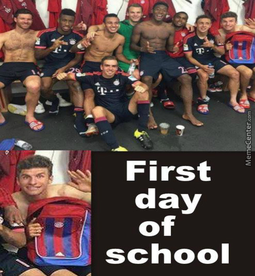 Thomas Müller At The School Today