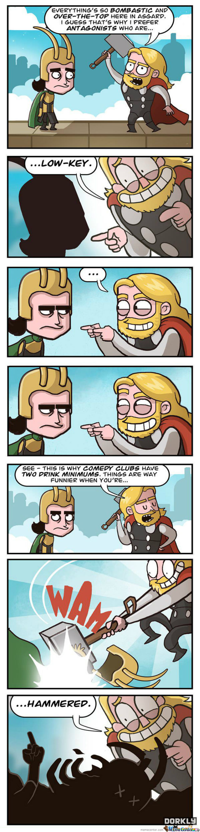 Thor Just Being Thor (Credit To The Artist )