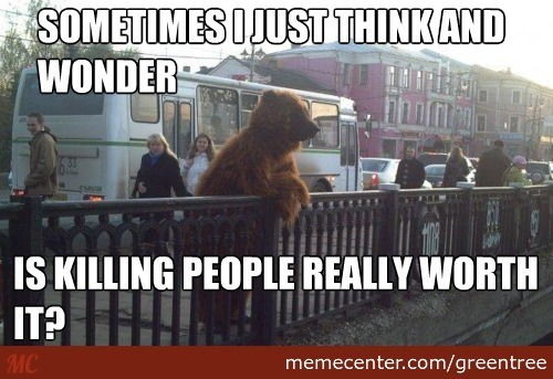 Thoughtful Bear!