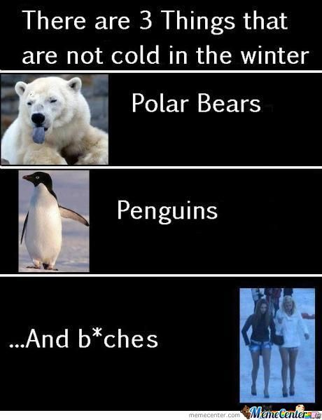 Three Things Which Don't Fear Winters