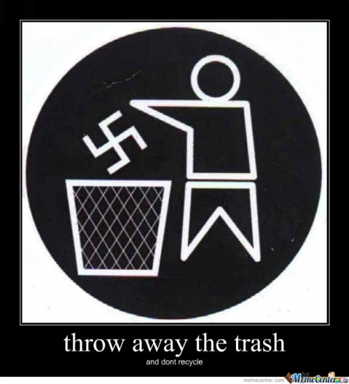 throw away the trash