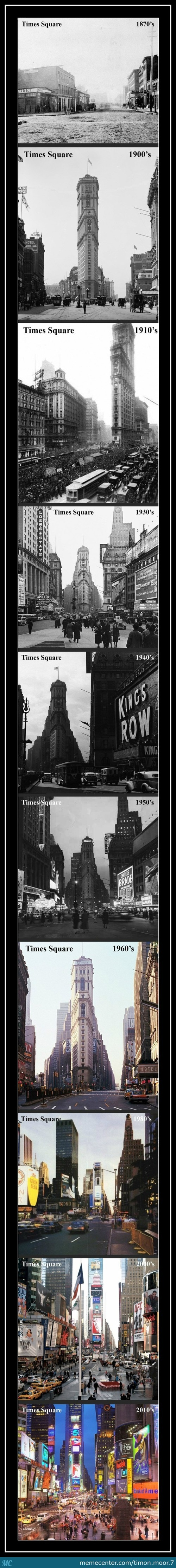 Times Square Over The Years
