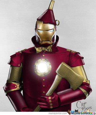 Tin Man + Iron Man = Ti(Ro)N Man