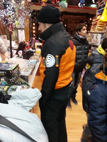 Tmw You Go Shopping Wearing A Beanie And A Naruto Jacket.