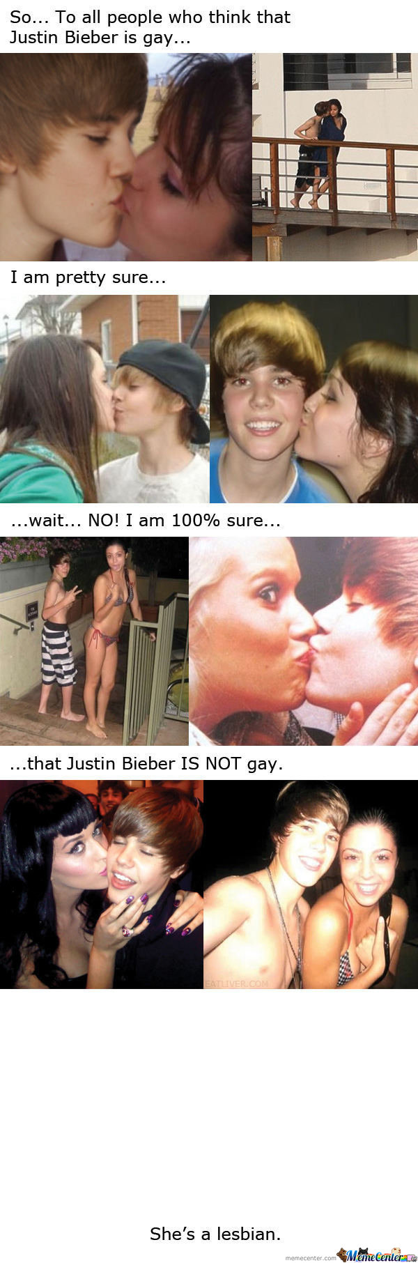 To All People Who Think Jb Is Gay