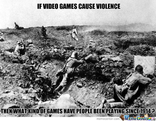 To People Who Believe That Games Cause Violence