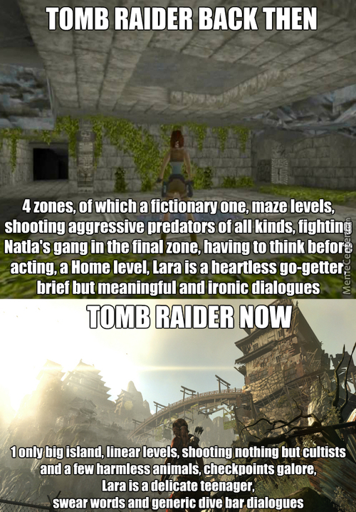 Tomb Raider Then And Now