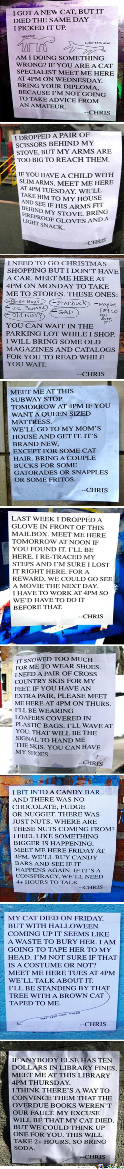 Too Much Free Time+ Sense Of Humor = That Chris Guy!