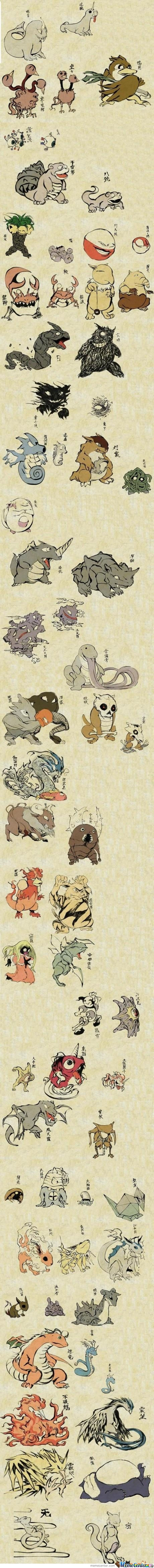 Traditional Japanese Pokemon