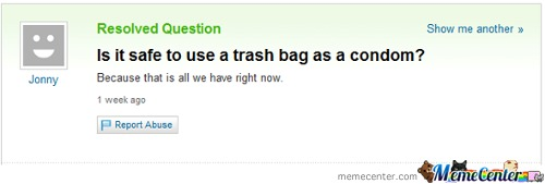 Trash Bag Condom