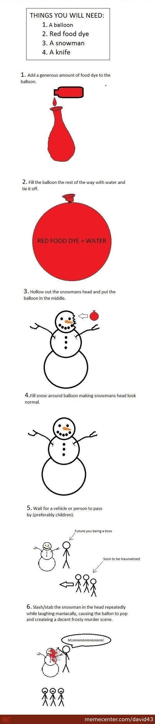 Traumatize Small Children This Winter In 6 Easy Steps!