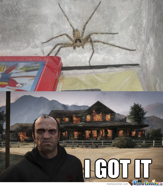 Trevor Hates Spiders Too.