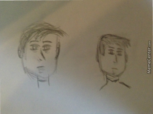 Tried Drawing, Any Advice? Also What Do You Think?