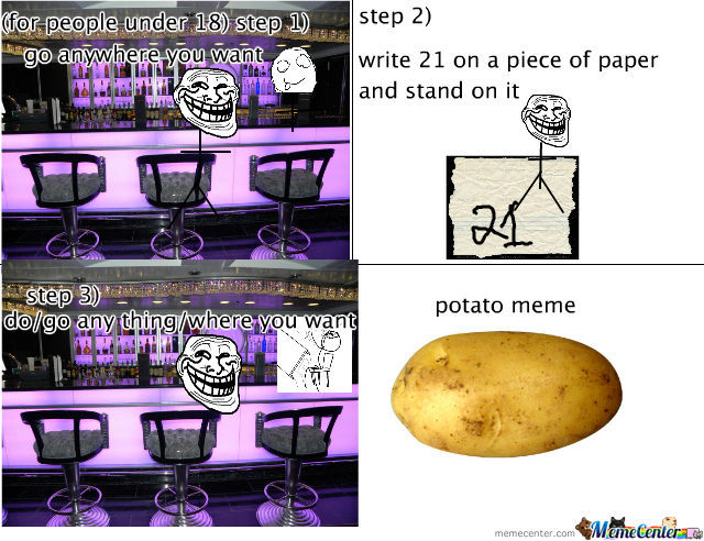 Troll Logic/potato Meme