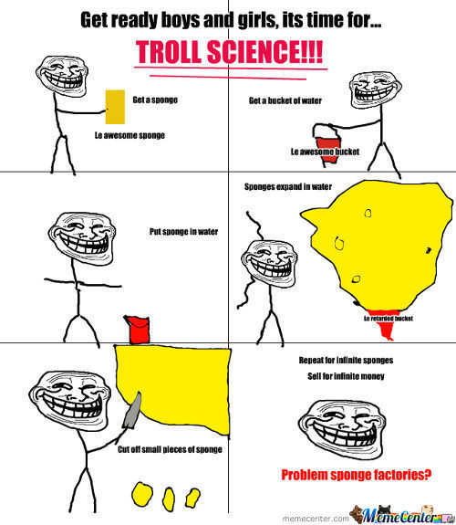 Troll Science Lv: Sponge