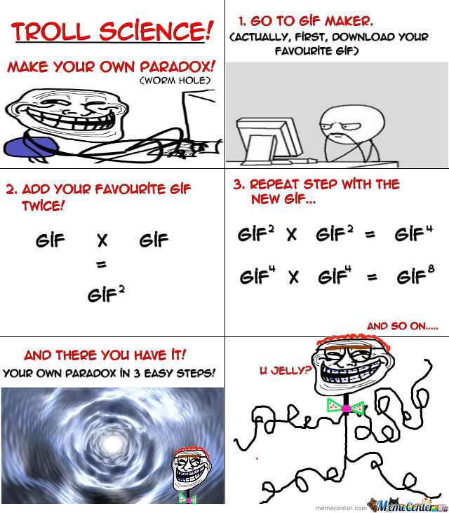 Troll Science; Worm Whole Version.