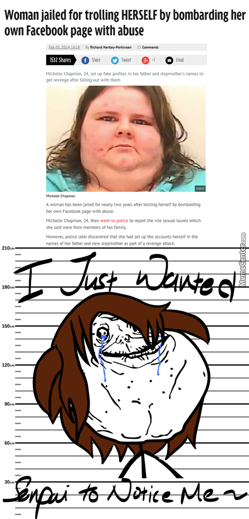 Troller Trolled Herself To Jail