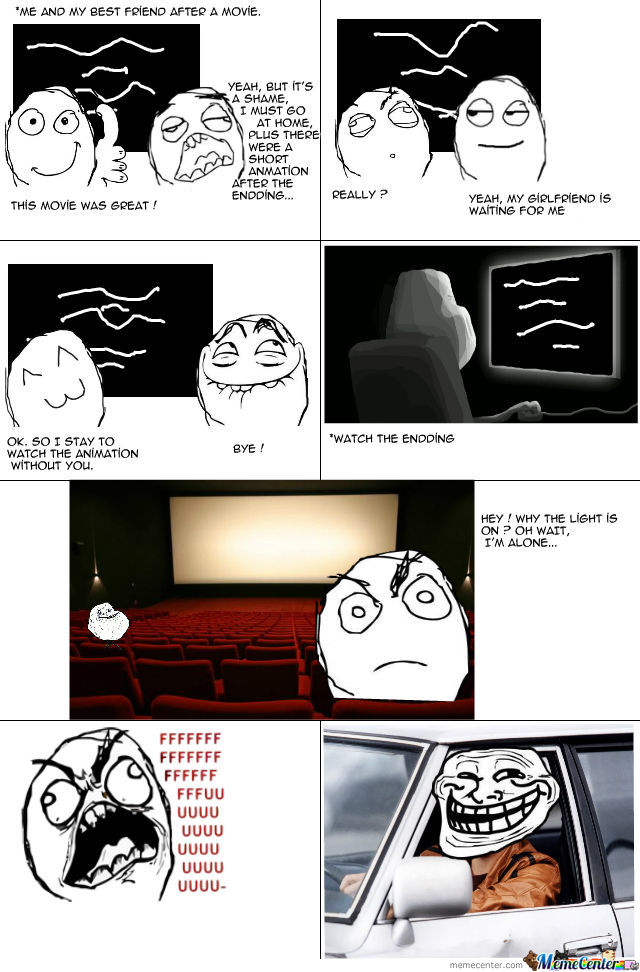 Trolling His Friend At Cinema.