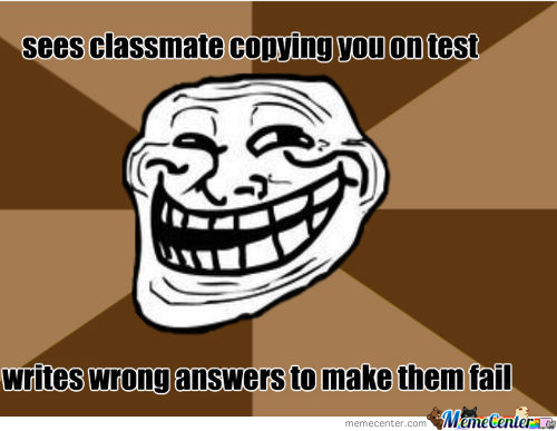 Trolling On Tests