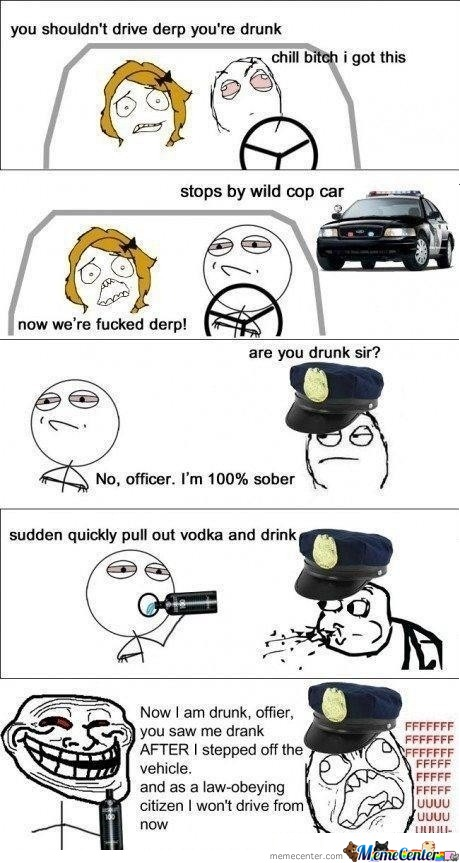 Trolling The Officer - Like A Boss!