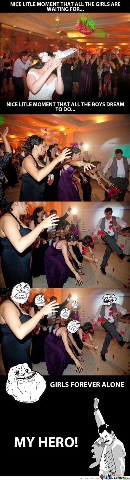 Trolling: Wedding Bouquet Throw.