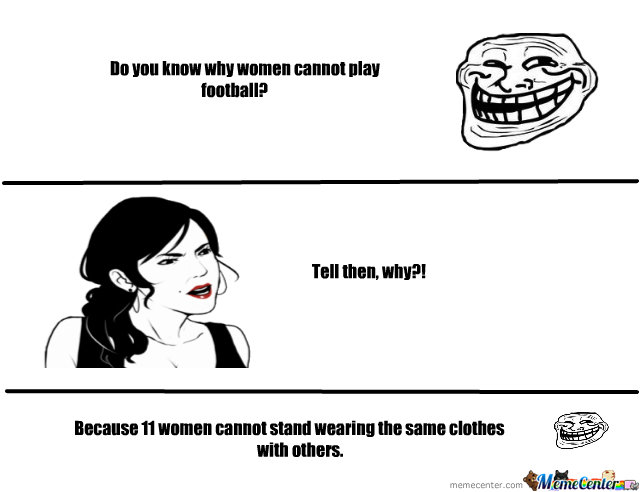 Why Can't Women Play Football?