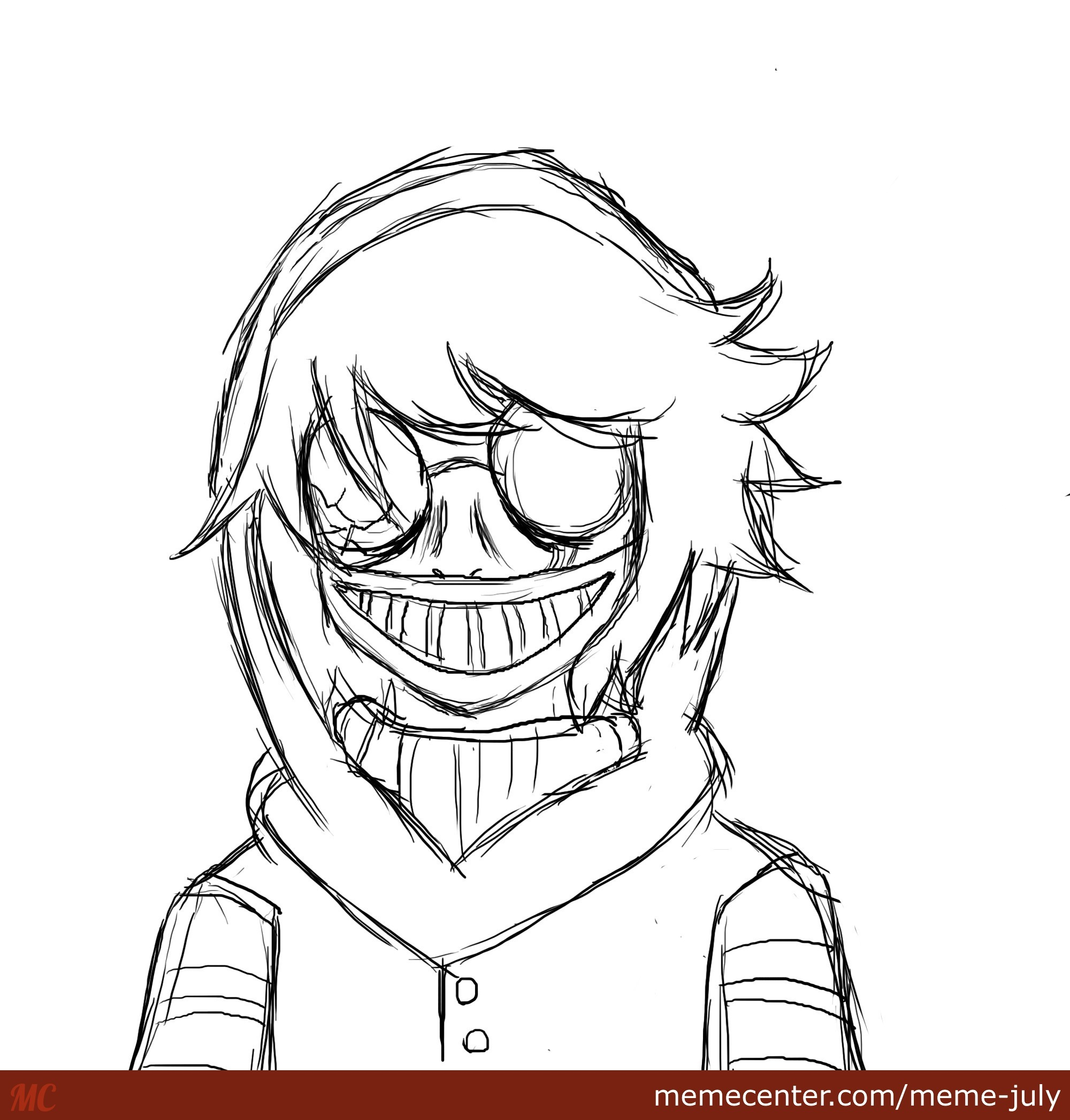 Pin Jeff The Killer Coloring Pages Images To Pinterest