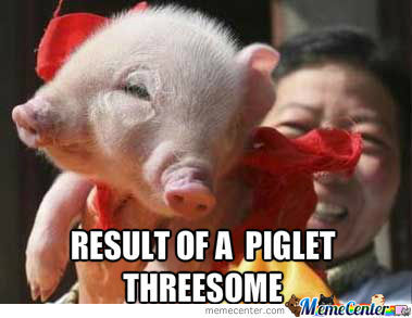 Two Faced Piglet