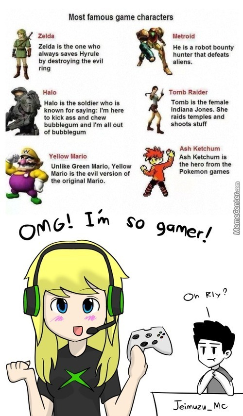 "Typical ""gamer Girl"""