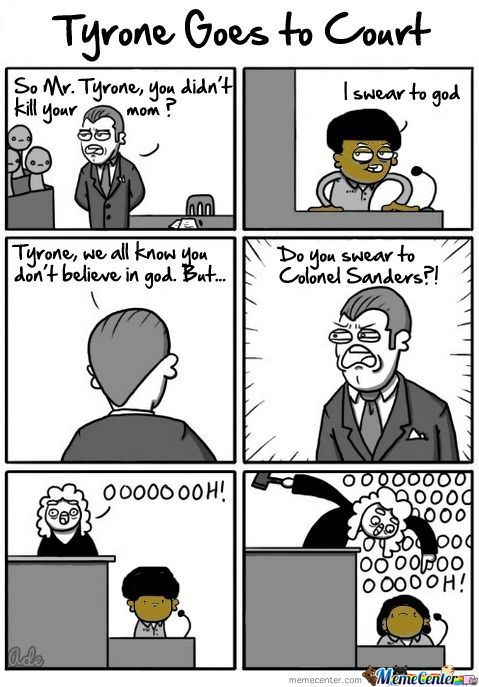 Tyrone Goes To Court