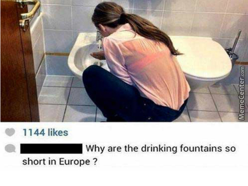 Umm...that's...not A Drinking Fountain