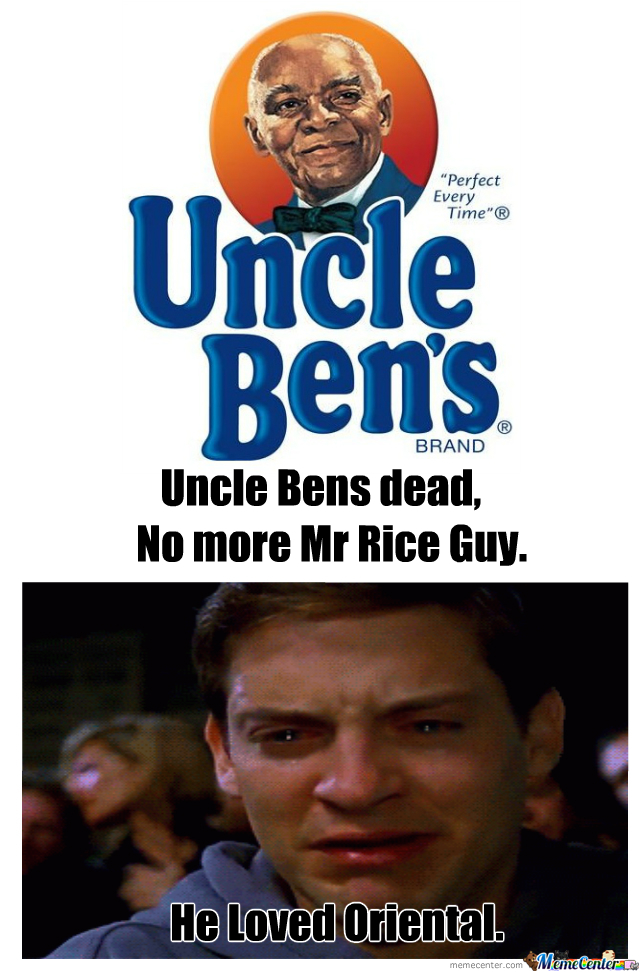 Funny Uncle Meme : Uncle ben was an asian food lover by thatguycalledalex