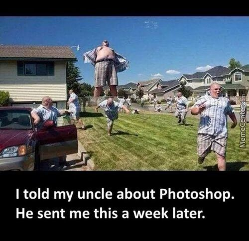Uncle Plays With Photoshop