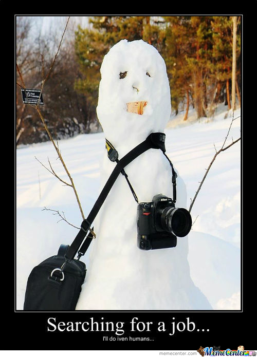 Unemployed Snowman