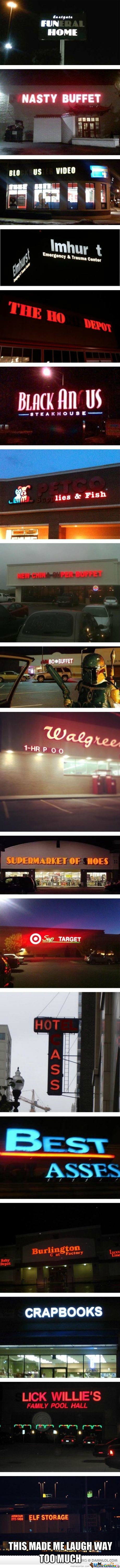Unfortunate Burn Out Neon Signs