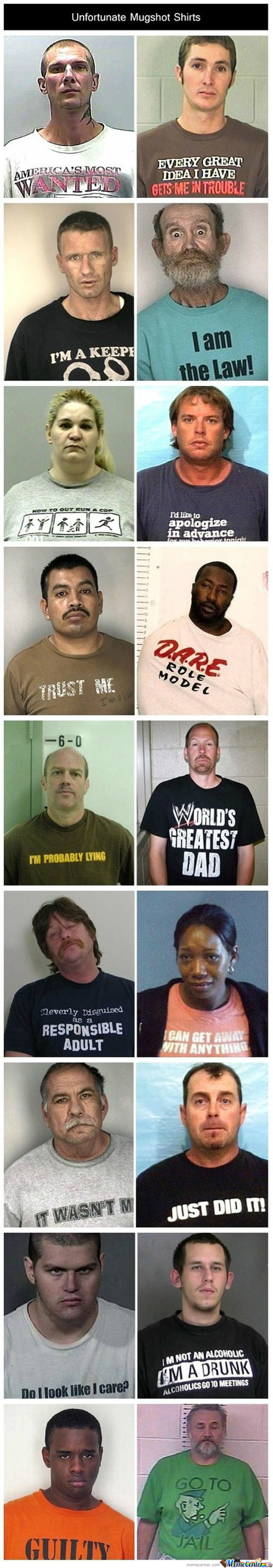 Unfortunate Mug Shots