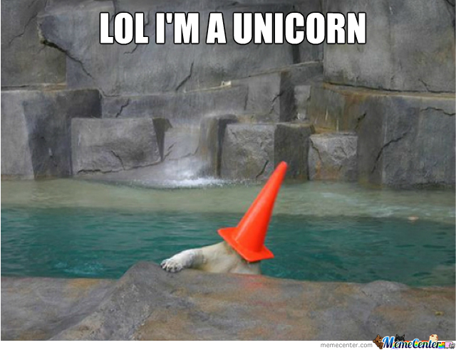 Unicorn Polar Bear!