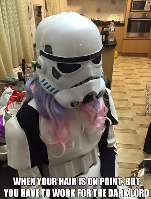 Unknownjedi Dyed His Hair And Wear Stormtrooper Armor For A Secret Mission ... Is His Pubic Hair Too Dyed?
