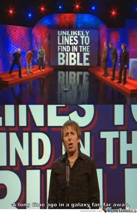 Unlikely Lines To Find In The Bible