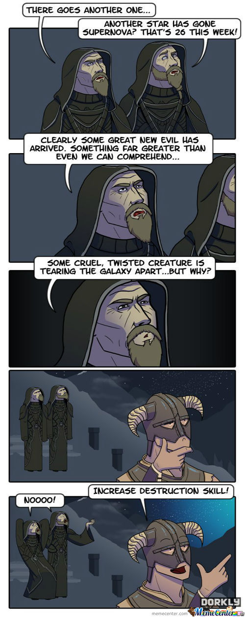 Up In The Skyrim (Dorkly)