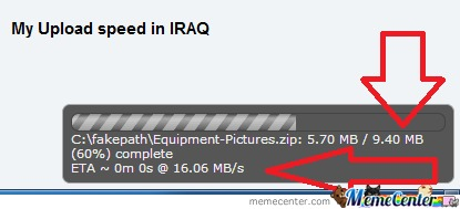 Upload Speed In Iraq! Wow! Do Even Have This ?