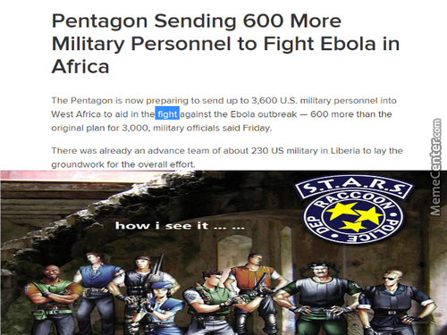 Us Sending Military To Fight Ebola...