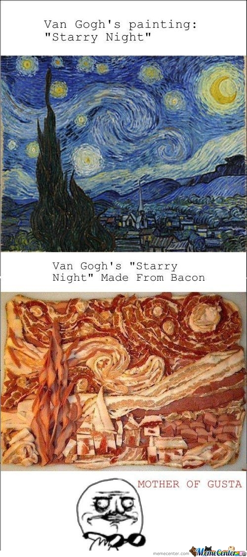 Van Goghs Starry Night Made From Bacon