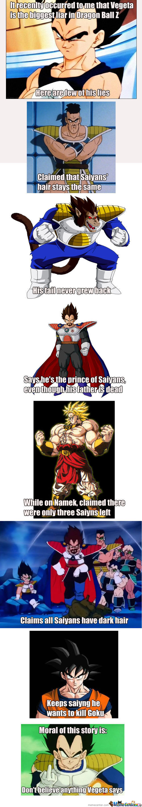 Vegeta Is A Liar
