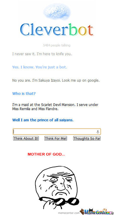 Vegeta Is Cleverbot.