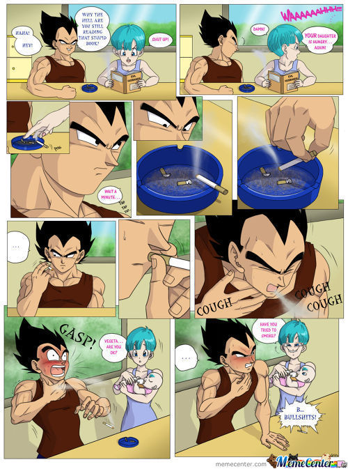 Vegeta Try To Smoke