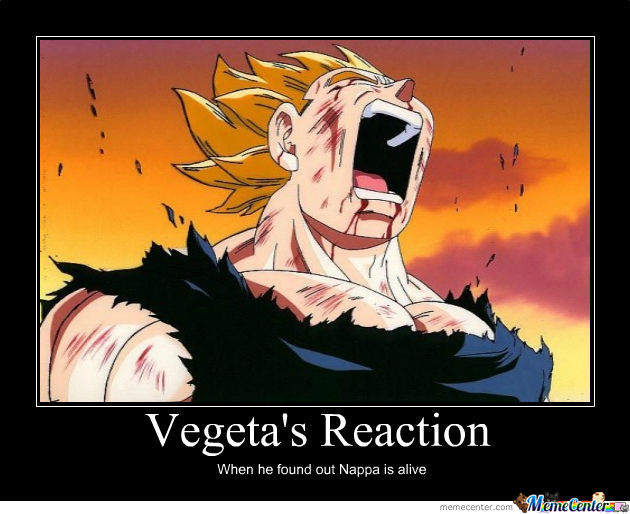 Vegeta's Reaction