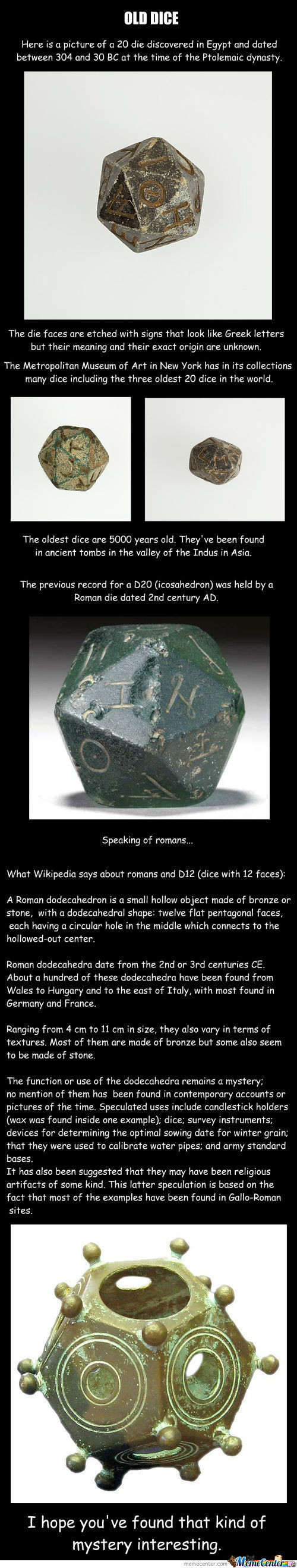 (Very) Old Dice