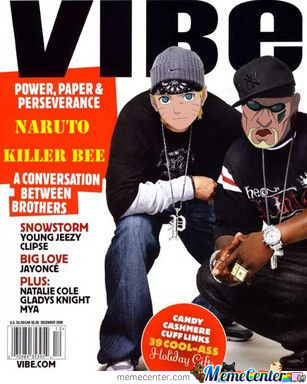 Vibe Magazine Featuring Naruto And Killer Bee