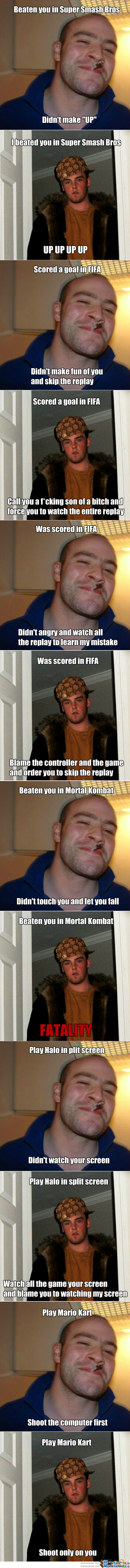 Video Game: Good Guy Greg Vs Scumbag Steve